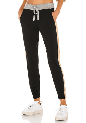 MONROW Color Block Sweats in Black. Size M,S,XS.