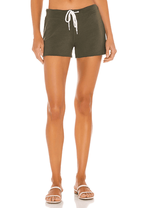 MONROW Supersoft Vintage Shorts in Green. Size XS,M,L.