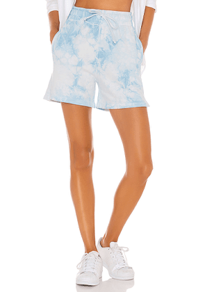 Frankies Bikinis Burl Sweat Short in Baby Blue. Size XS,S,M.