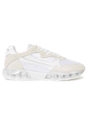 Alexander Wang Stadium Leather, Suede, Mesh And Pvc Sneakers Woman White Size 35