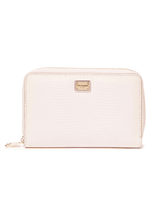 Dolce & Gabbana Lizard-effect Leather Wallet Woman Baby pink Size --