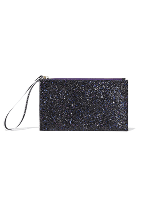 Emilio Pucci Glittered Satin Pouch Woman Purple Size --