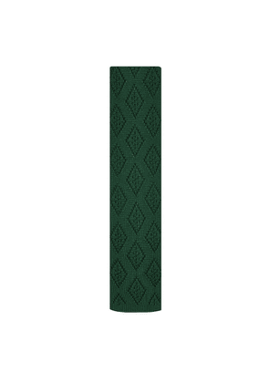 DUCHAMP LONDON Diamond Plain Knitted Tie Green