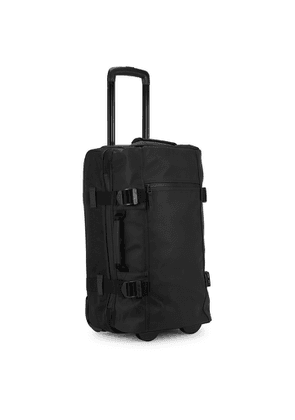 Rains Black Canvas And Rubberised Suitcase