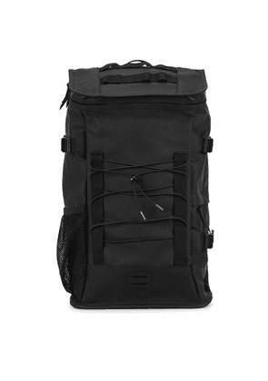 Rains Mountaineer Black Water-resistant Rubberised Backpack