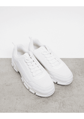 Truffle Collection white chunky trainer