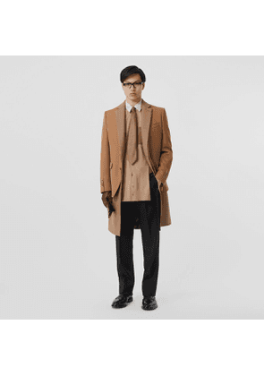Burberry Camel Hair Coat with Detachable Wool Jacket, Brown