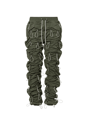 99%IS- - Gobchang Tapered Stretch-Shell Drawstring Trousers - Men - Green
