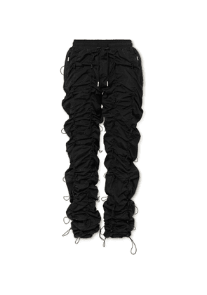 99%IS- - Gobchang Tapered Stretch-Shell Drawstring Trousers - Men - Black