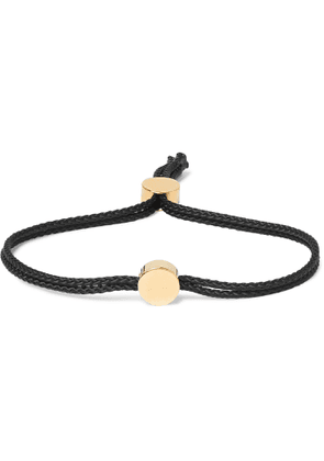 Alice Made This - Dot Cord and Gold-Plated Bracelet - Men - Black