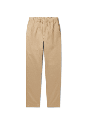 Aspesi - Tapered Cotton and Linen-Blend Twill Trousers - Men - Neutrals