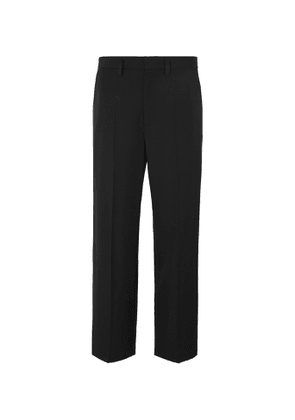 Balenciaga - Black Cropped Wool-Twill Trousers - Men - Black