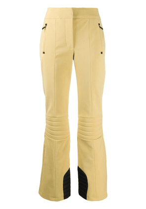 Moncler Grenoble ribbed knee flared trousers - Yellow