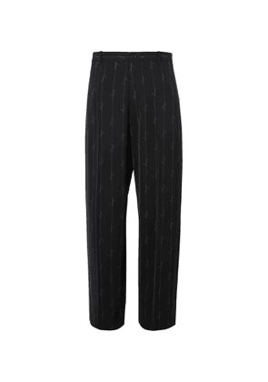 Balenciaga - Logo-Print Twill Suit Trousers - Men - Black