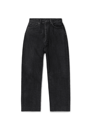 Balenciaga - Wide-Leg Denim Jeans - Men - Black