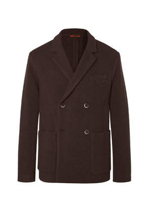 Barena - Double-Breasted Wool-Blend Blazer - Men - Brown