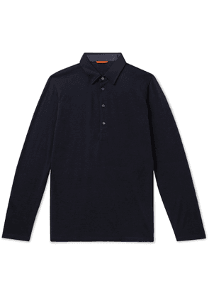 Barena - Wool-Blend Polo Shirt - Men - Blue