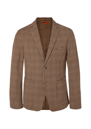 Barena - Slim-Fit Checked Virgin Wool-Blend Blazer - Men - Brown