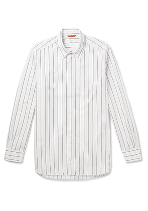 Barena - Striped Cotton Shirt - Men - Neutrals
