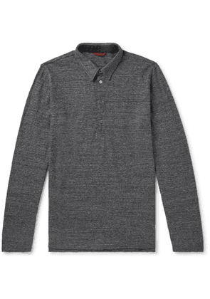 Barena - Mélange Wool Polo Shirt - Men - Gray