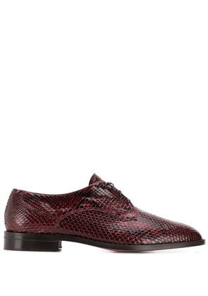 Michel Vivien python skin Oxford shoes - Red