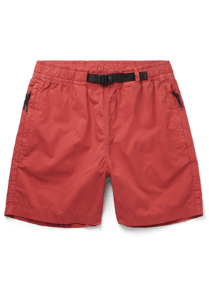 Bellerose - Tapered Pleated Cotton-Twill Trousers - Men - Red