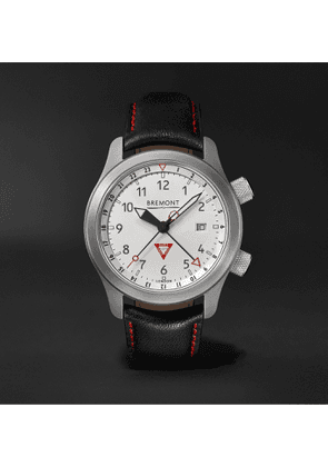 Bremont - MBIII 10th Anniversary Limited Edition Automatic GMT 43mm Stainless Steel and Leather Watch, Ref. MBIII-WH-LE - Men - White