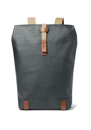 Brooks England - Pickwick Large Coated-Canvas Backpack - Men - Gray