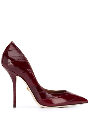 Dolce & Gabbana pointed-toe leather pumps - Red