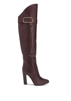Dolce & Gabbana buckle detail knee-high boots - Red