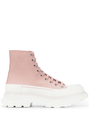 Alexander McQueen Tread Slick high-top sneakers - PINK