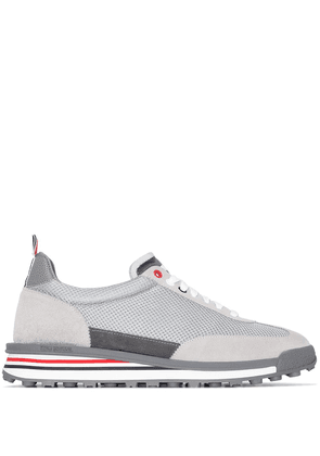 Thom Browne Tech Runner leather sneakers - Grey
