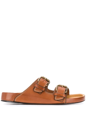 Isabel Marant Lennyo leather sandals - Brown