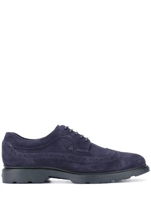 Hogan lace-up perforated detail brogues - Blue