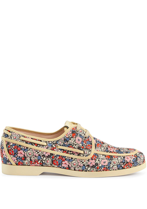 Gucci Liberty floral boat shoe - PINK
