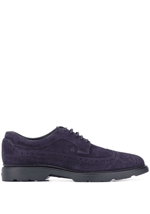 Hogan lace-up suede brogues - Blue