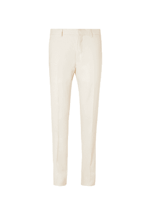 Caruso - Pleated Linen and Silk-Blend Twill Suit Trousers - Men - Neutrals