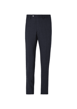 Caruso - Slim-Fit Prince of Wales Checked Wool Suit Trousers - Men - Blue