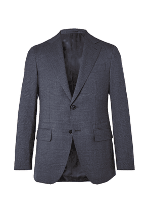 Caruso - Slim-Fit Prince of Wales Checked Wool Suit Jacket - Men - Blue