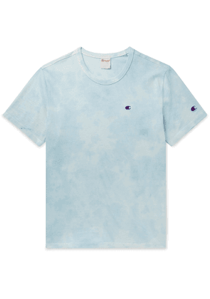 Champion - Logo-Embroidered Tie-Dyed Cotton-Jersey T-Shirt - Men - Blue