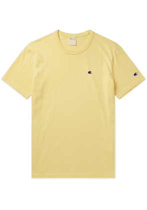 Champion - Logo-Embroidered Cotton-Jersey T-Shirt - Men - Yellow