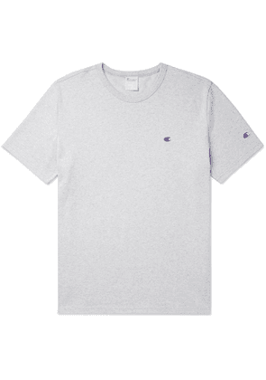 Champion - Logo-Embroidered Cotton-Jersey T-Shirt - Men - Gray