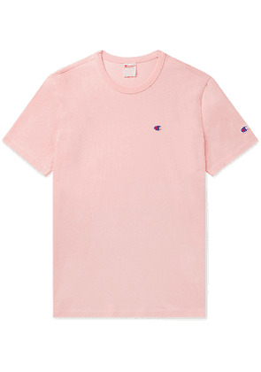 Champion - Logo-Embroidered Cotton-Jersey T-Shirt - Men - Pink