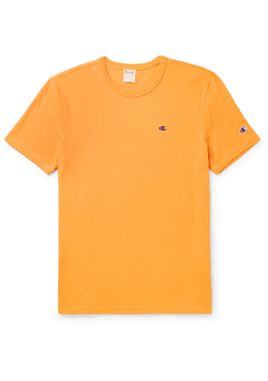 Champion - Logo-Embroidered Cotton-Jersey T-Shirt - Men - Orange