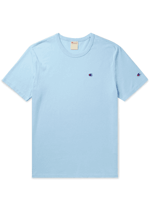 Champion - Logo-Embroidered Cotton-Jersey T-Shirt - Men - Blue