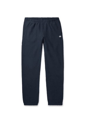Champion - Slim-Fit Fleece-Back Cotton-Blend Jersey Sweatpants - Men - Blue