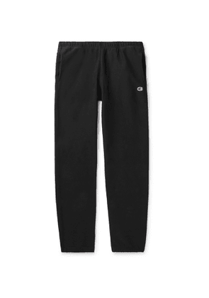 Champion - Slim-Fit Fleece-Back Cotton-Blend Jersey Sweatpants - Men - Black