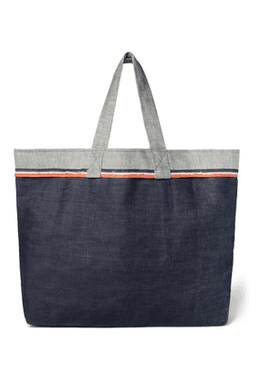 Cleverly Laundry - Twill-Trimmed Frayed Denim Tote - Men - Blue
