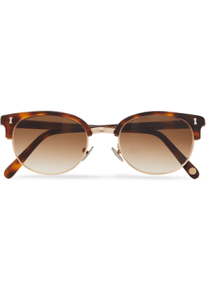 Cubitts - Twyford Round-Frame Acetate and Gold-Tone Sunglasses - Men - Black