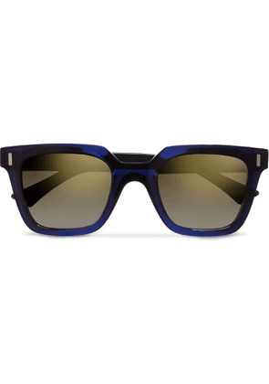 Cutler and Gross - Square-Frame Acetate Sunglasses - Men - Blue